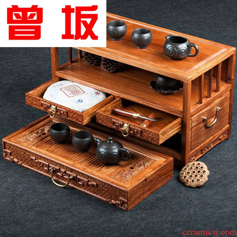 Once sitting portable is suing travel tea set suits for huang hua limu tea tray puer tea has the car of a complete set of kunfu tea