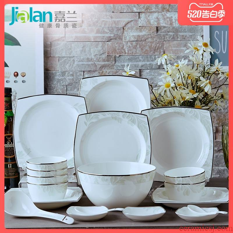 Garland tangshan ipads porcelain tableware suit white up phnom penh dish ceramic bowl dish dish run out of free ipads bowls