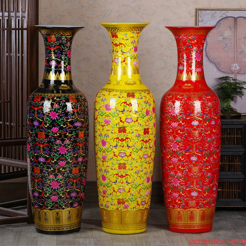 Jingdezhen ceramics of large vases, new Chinese style living room TV ark, hotel decoration to heavy large high furnishing articles