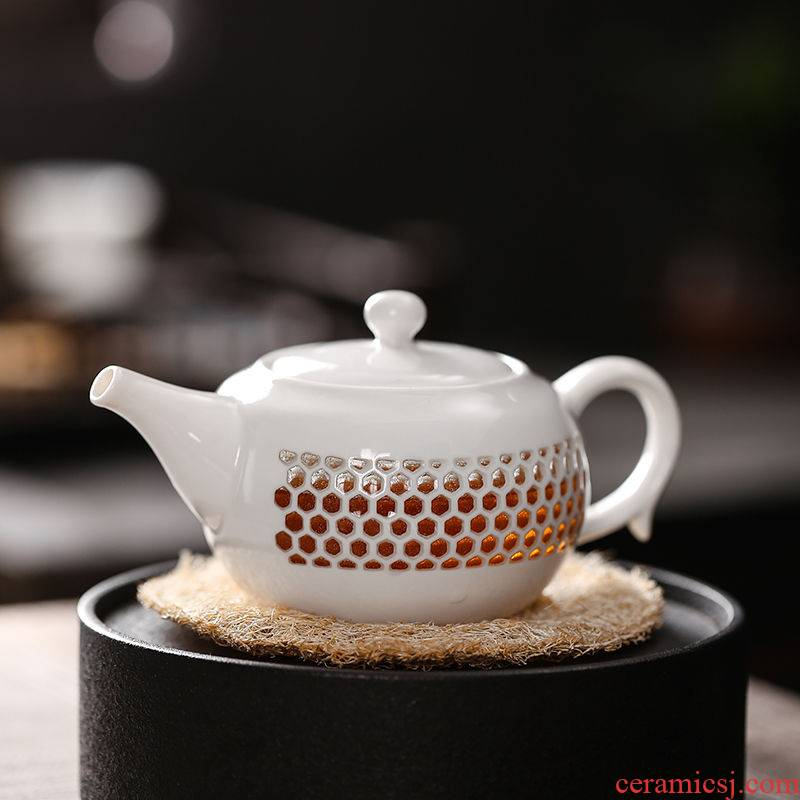 Hui shi and exquisite originality ceramic kung fu tea set home tea cup teapot jingdezhen contracted tureen tea art