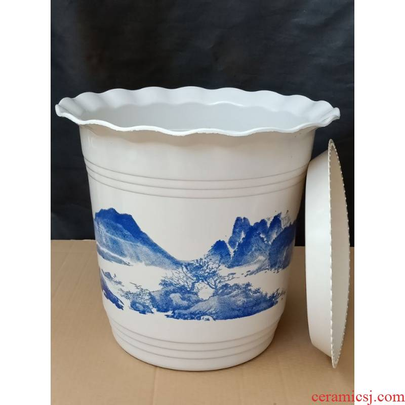 Low price promotion package mail oversized thickening of plastics and imitation ceramic flower pot tray indoor round the balcony