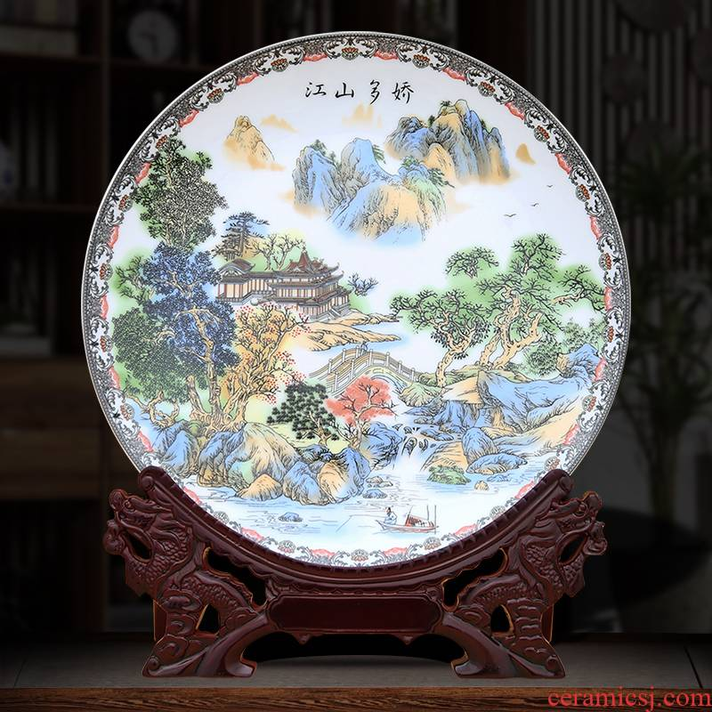 Jiangshan jiao more decorative plate to industry