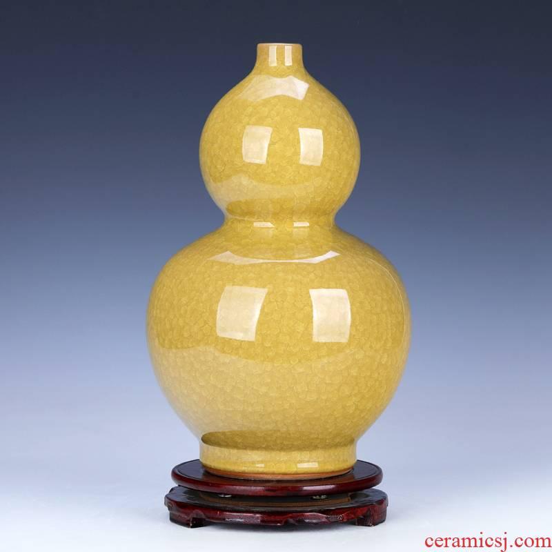 Archaize up ceramic bottle gourd furnishing articles town curtilage sitting room adornment handicraft jingdezhen porcelain vase is large