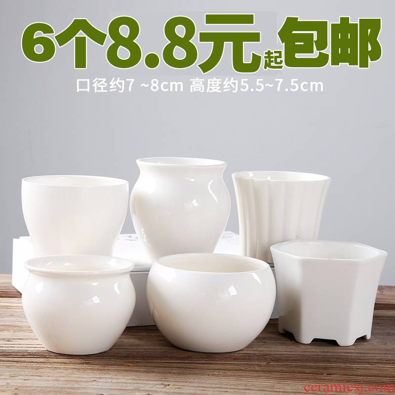 Large clearance meat meat plastic flowerpot ceramics violet arenaceous clearance package mail more than other meat plant sale many flower pot