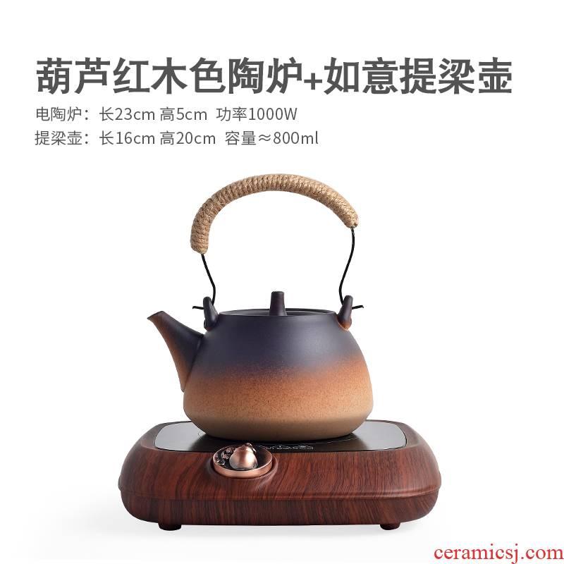 Qiu time household kung fu tea set ceramic kettle electric TaoLu small small tea stove pot of boiled tea stove girder are coarse pottery