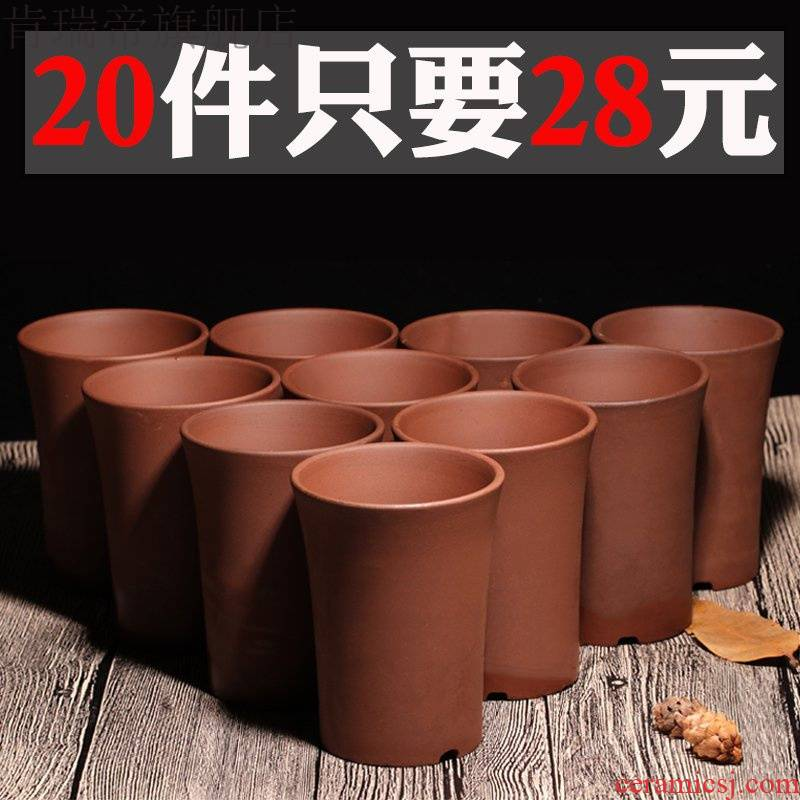 Meaty plant basin of Chinese style flowerpot special offer a clearance wholesale ceramic purple living room couch potato flower pot in vientiane basin