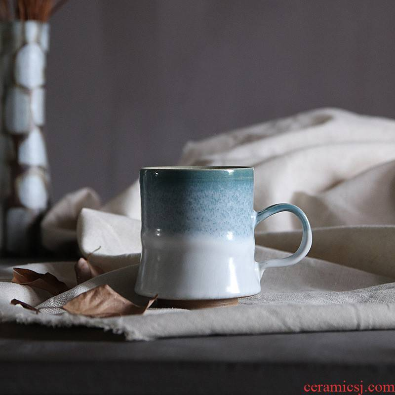 Jingdezhen poly real ceramic keller cup ghost scene wild glaze thick ceramic cups of coffee cup by hand