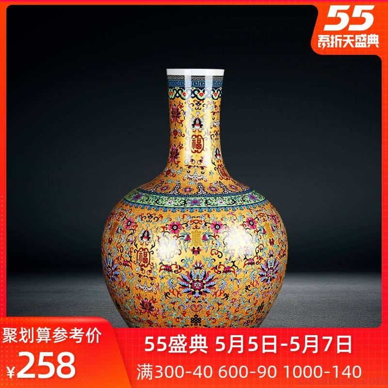Jingdezhen, the porcelain ceramics landing large vases, antique Chinese style household furnishing articles porch tree ornament