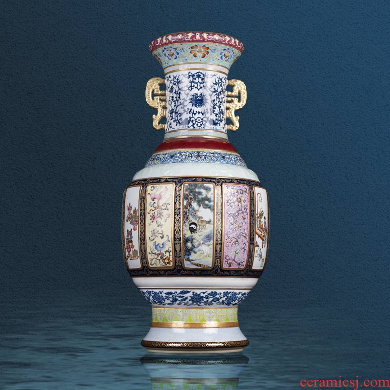Better sealing archaize great vase heavy hand - made porcelain up jingdezhen ceramics mother double ears collection boutique furnishing articles