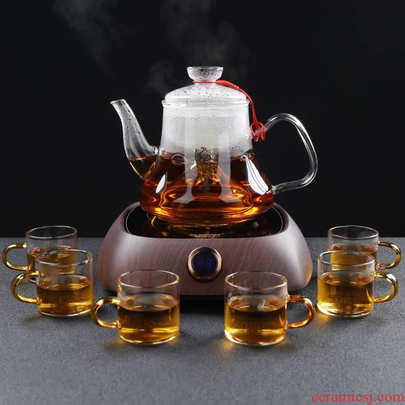 Steam boiling tea ware glass teapot tea steamer electrothermal electric TaoLu boiled tea stove black tea pu - erh tea, white tea teapot
