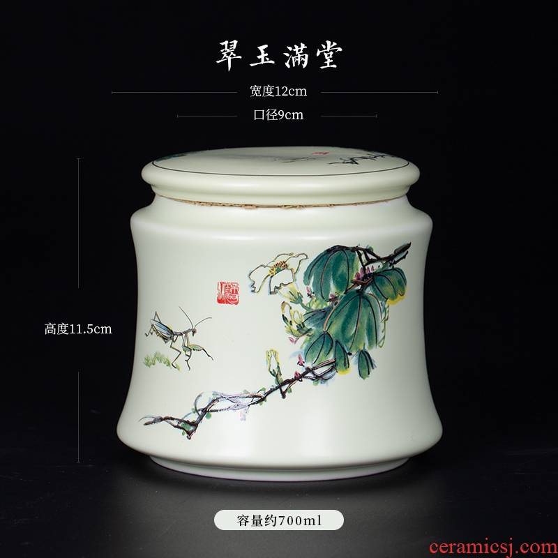 Blower, jingdezhen ceramic seal pot large white tea caddy fixings tea caddy fixings POTS and POTS of pu - erh tea pot