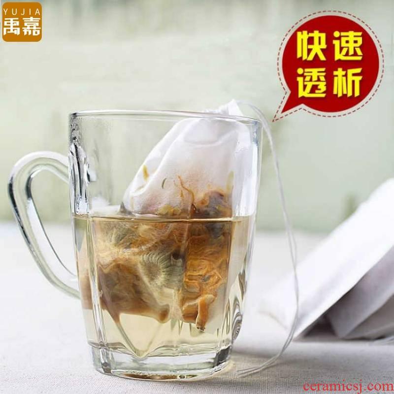 YuJia 3 packets sent 1 package 100 tablets in the suction line filter paper tea bag bag of boiled tea tea bag filter bag tea bag