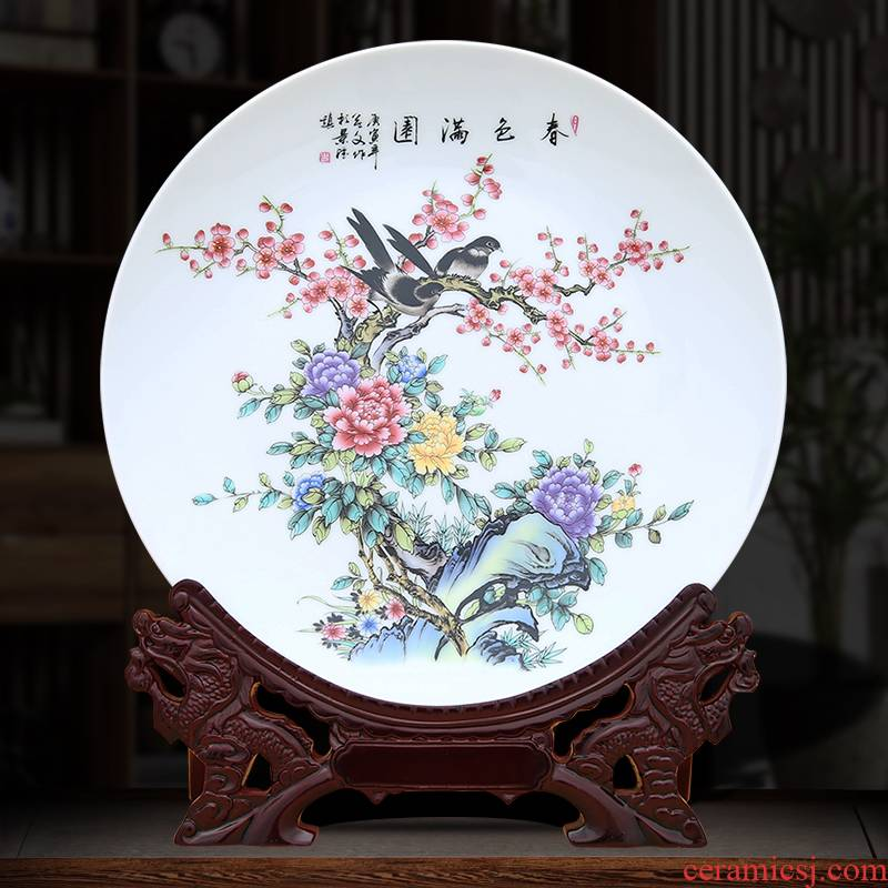 Spring scenery garden decoration plate of to industry