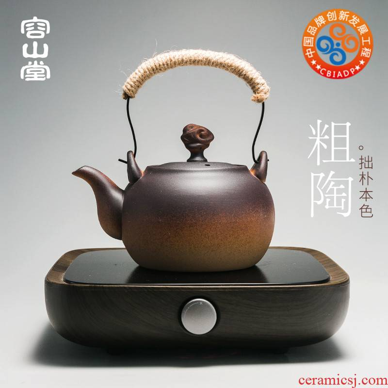 RongShan hall electric kettle coarse pottery kettle boiled tea exchanger with the ceramics heat preservation heat large iron girder teapot