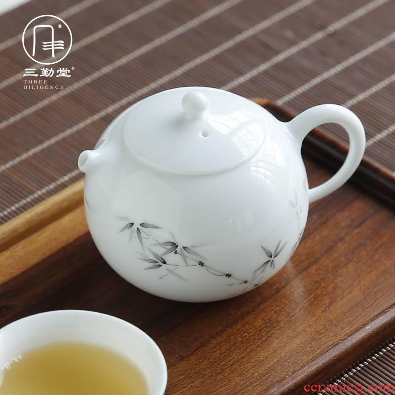 Three frequently tong xi shi filtering pot of flower pot mini office household kung fu tea set S22004 jingdezhen ceramics