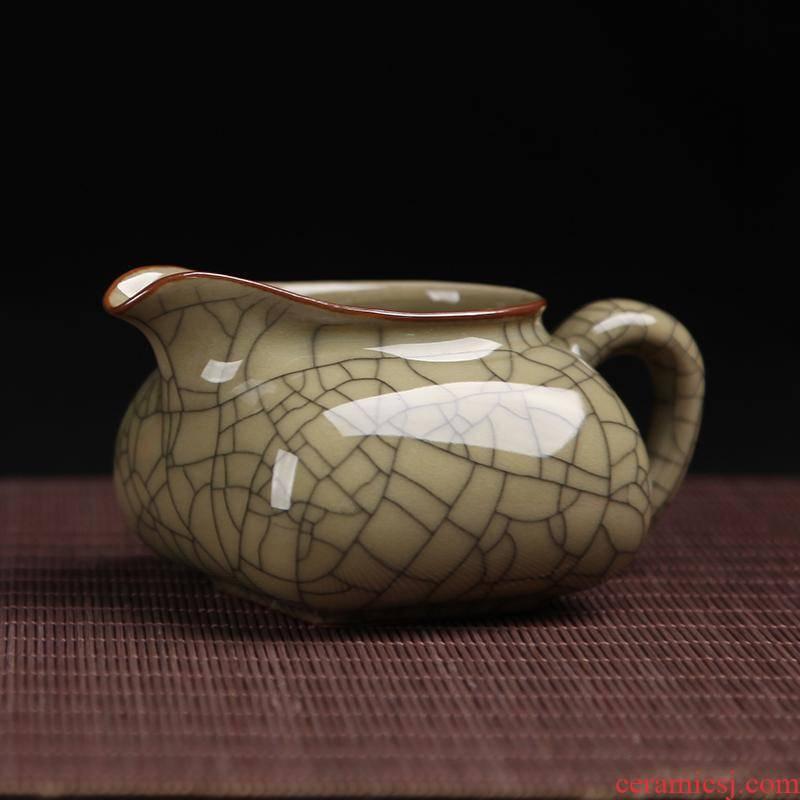 Longquan celadon celadon justice cup ice crack distribution tea ware and ceramics zero cup and a cup of tea