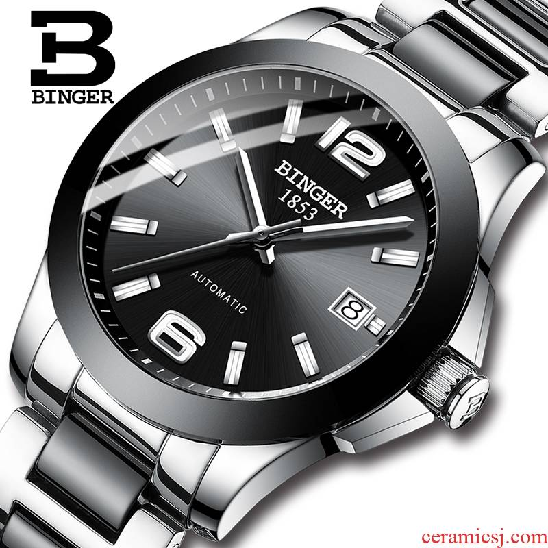 Clearance price is accusative watch male table automatic mechanical watch male table legend ceramics with three stitches black men