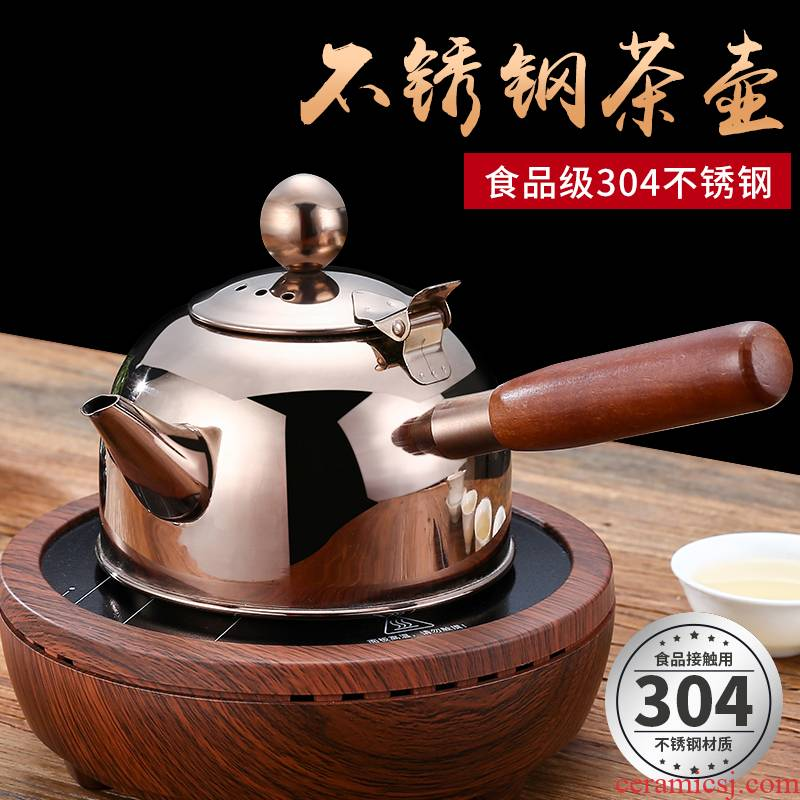 304 stainless steel kettle teapot tea induction cooker pot electricity TaoLu cooking pot thickening flat - bottomed pot of hot water