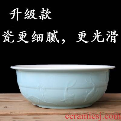 Ceramic POTS of household kitchen Ceramic face basin and old household large kitchen thickening deepen basin