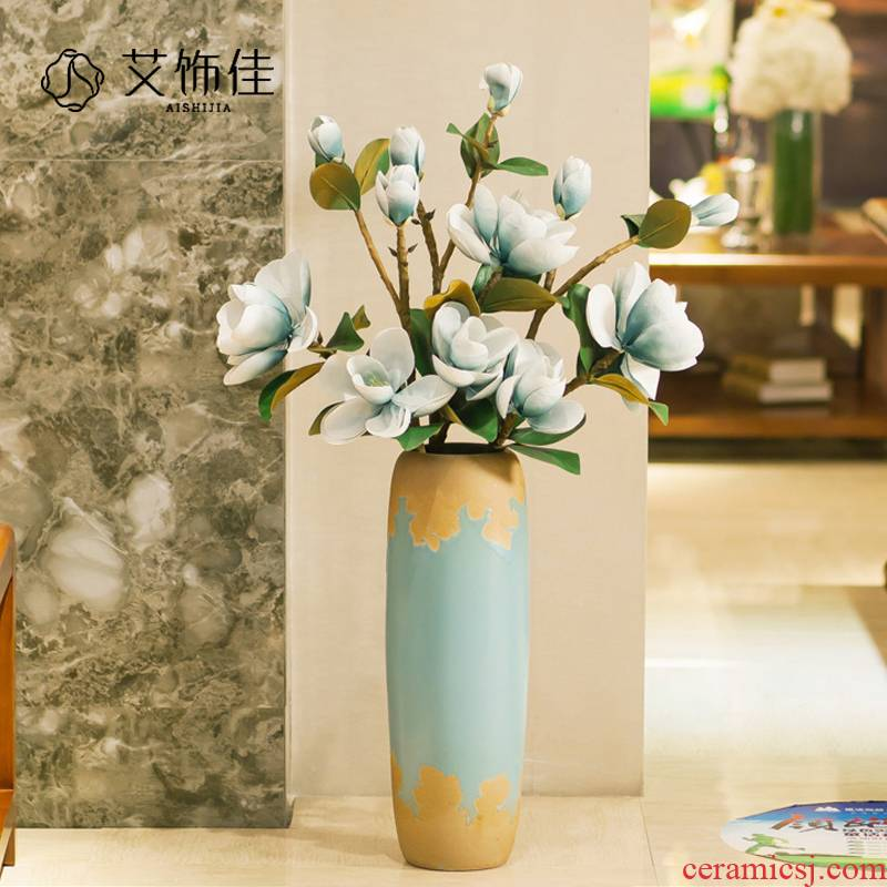 Jingdezhen ceramic contracted and I sitting room of large vase European art creative household soft outfit furnishing articles