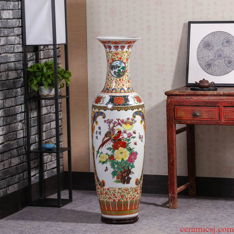 Jingdezhen ceramics of large vase hotel version into Chinese flower arrangement sitting room adornment is placed
