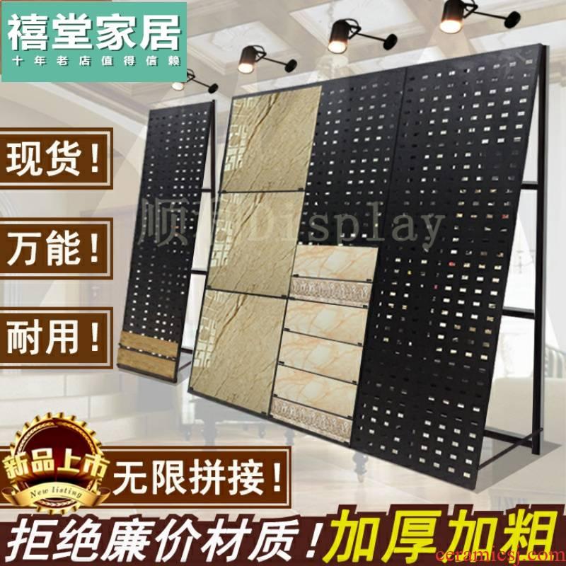 Ceramic tile exhibition stand'm board, floor tile show 800 hole, hole board exhibition exhibition floor stone sample hook shelf