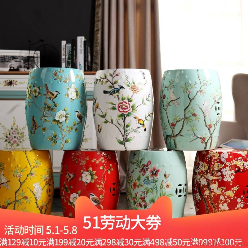 New Chinese style American - style mix ceramic drum who pier dressing change shoe who sitting room tea table who bath who dry who