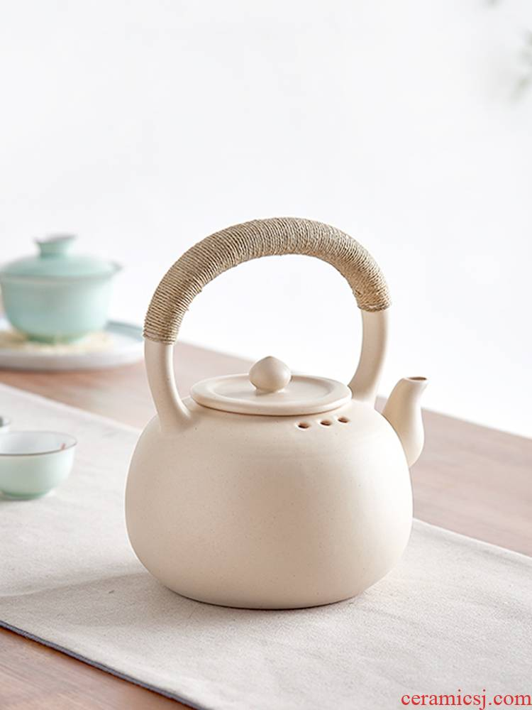 Household ceramics girder teapot open the tea kettle boiled tea, the electric TaoLu ceramic POTS, large - sized large - capacity single pot