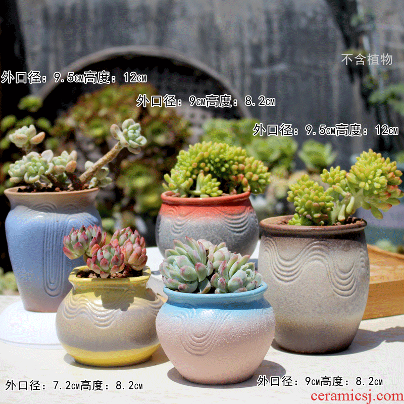 Package mail up with fleshy medical stone flower pot basin value ceramic lazy bibulous relief of large diameter large old from running