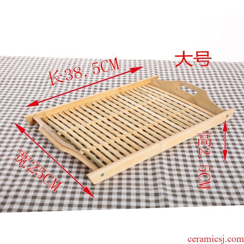 Receive a small tea tray household fine bamboo stick act the role ofing is tasted special suits for bamboo fruit bowl display