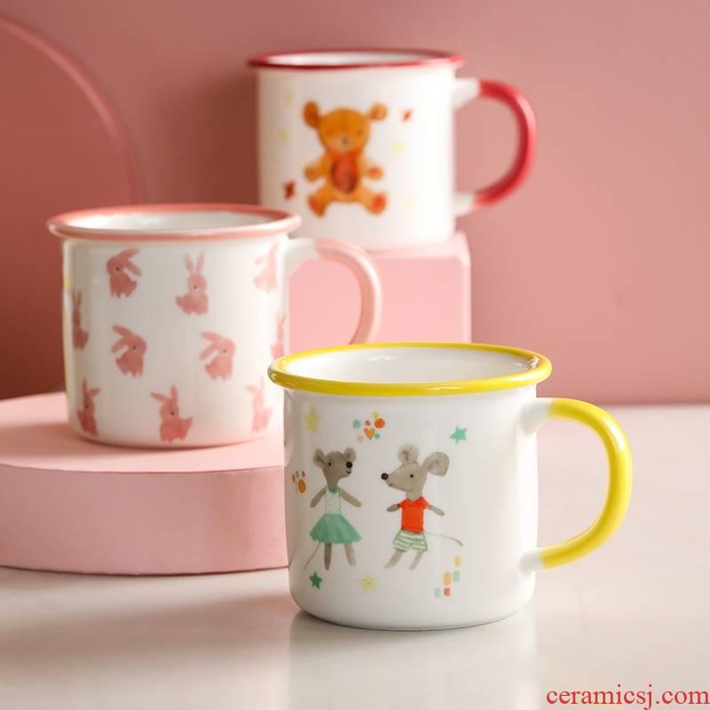 Mizuho Gu Jiaju tong qu mugs ceramic, lovely home office drinking cup of coffee cups cup