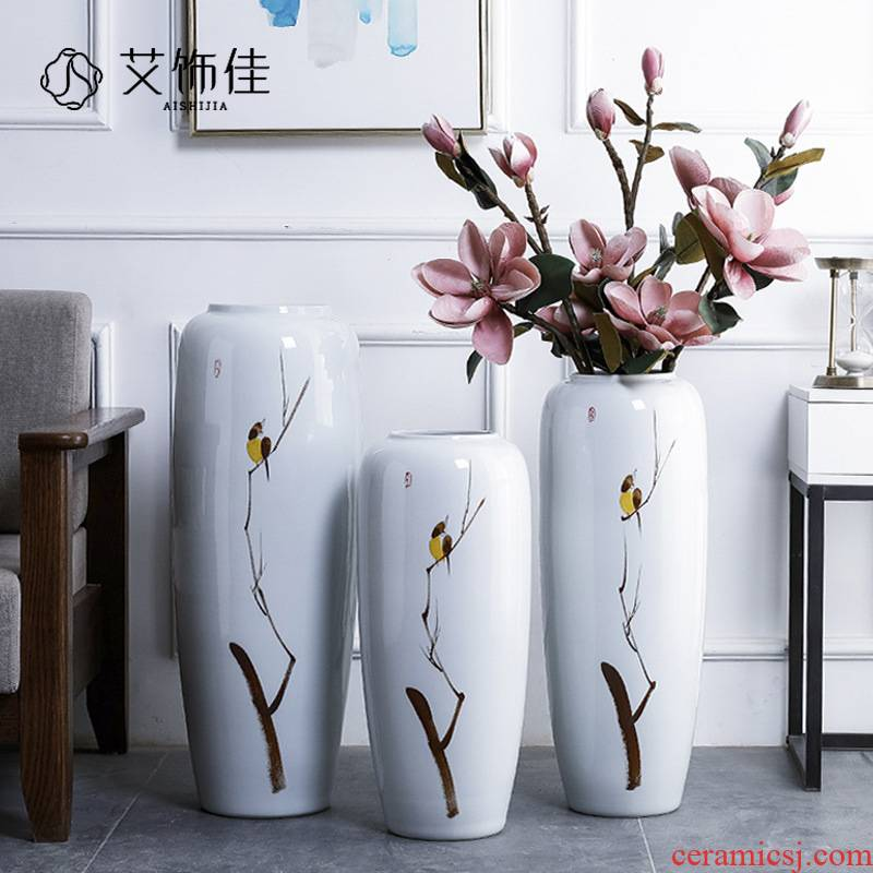 Jingdezhen ceramic hotel villa new Chinese style of large vases, the sitting room porch flower decoration flower arranging furnishing articles
