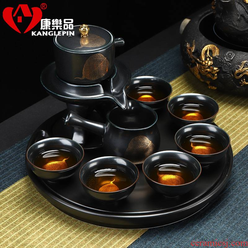 Recreational product automatic tea sets jingdezhen coppering. As silver tea set home stone mill lazy kung fu tea tea cup