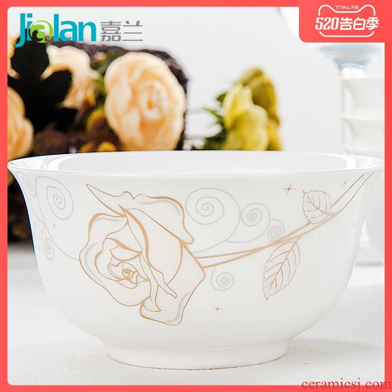 Garland ipads China golden bell bowl creative Chinese tableware 4.5 inch rice bowls of household ceramic bowl to ultimately responds soup bowl