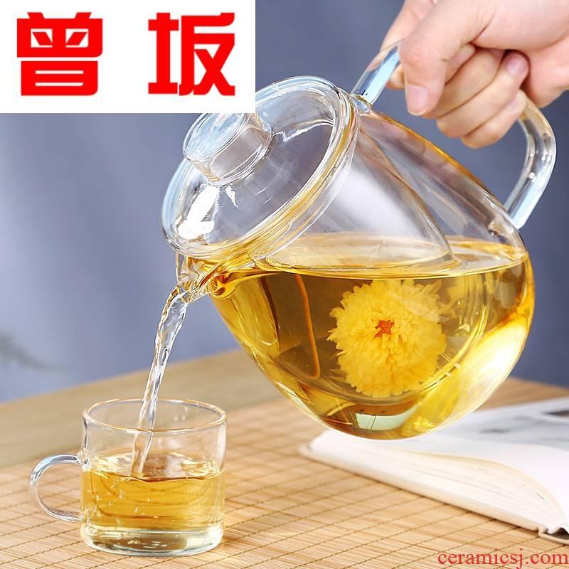 The Who -- a large glass teapot transparent elegant tea filter home tea tea cup of large capacity