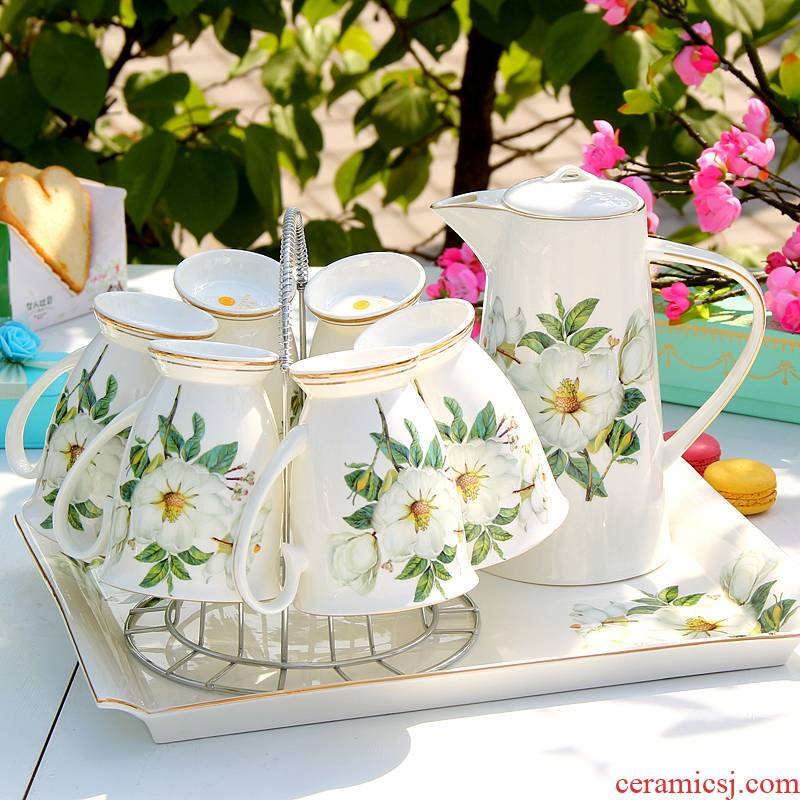 Ceramic keller cup suit light much mark a glass of water with ipads China cold water kettle pot home European sitting room