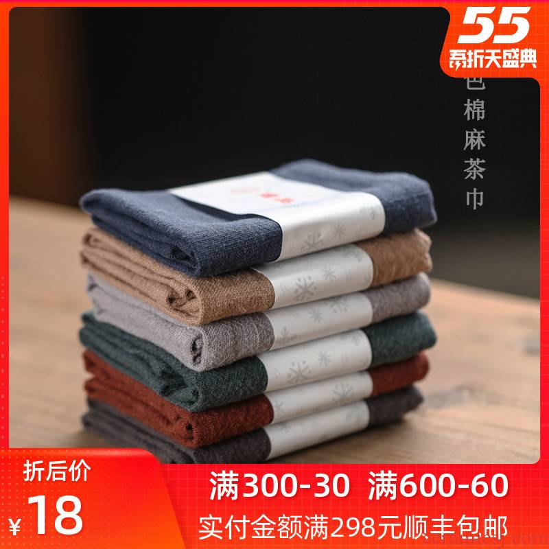 Bright product single tea towel cloth cotton suction a pot of tea cloth towels jingdezhen kung fu tea set special patch small squares