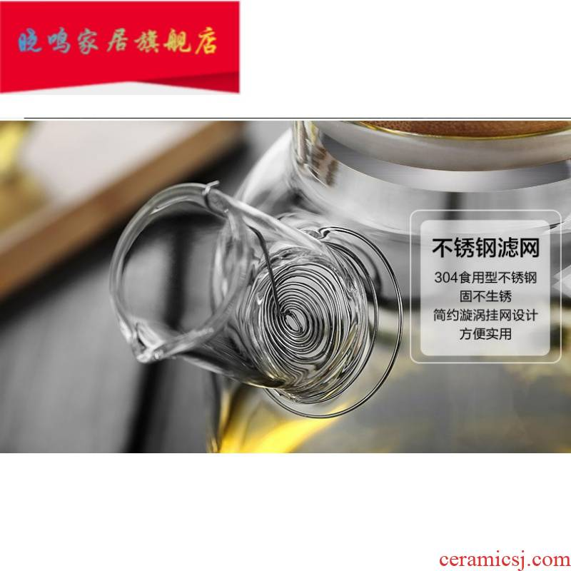 Glass teapot accessories special teapot spout metal filter stainless steel spring can replace the tank bag mail 1