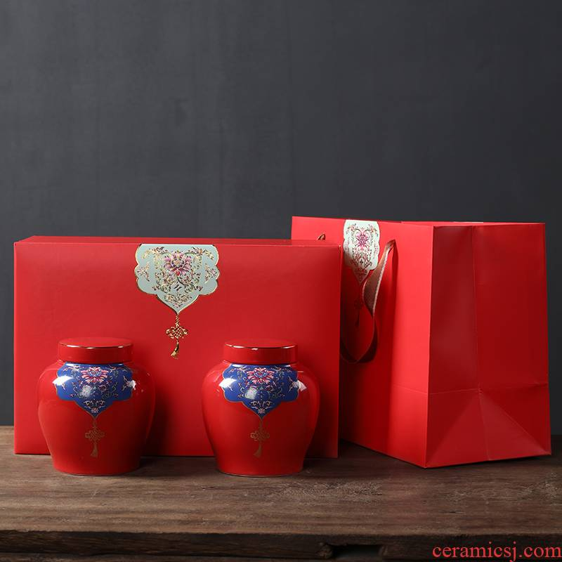 Tea packaging gift box ceramic Tea pot general Tea, green Tea POTS sealed as cans half jins pack cartons is a gift