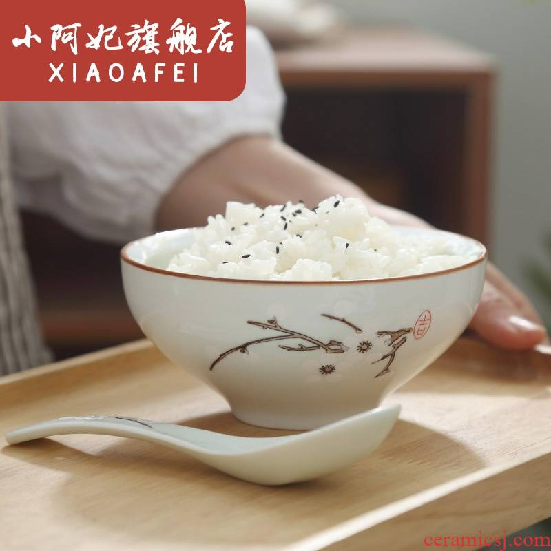 Japanese job 】 【 under the glaze color restoring ancient ways hand - made ceramic tableware bowls of rice bowls porringer dessert salad bowl
