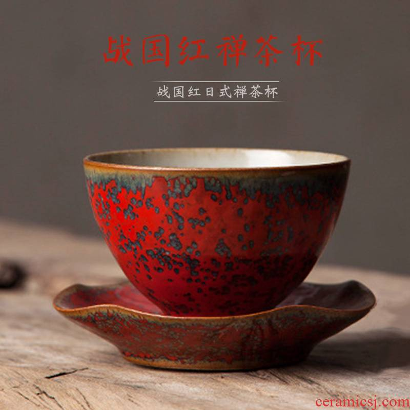 Kung fu star light cup master of jingdezhen ceramic large individual cup full manual single cup red sample tea cup