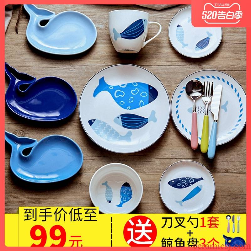 New garland ipads porcelain tableware children suit western - style 6 sets express cartoon dishes combination healthy dishes
