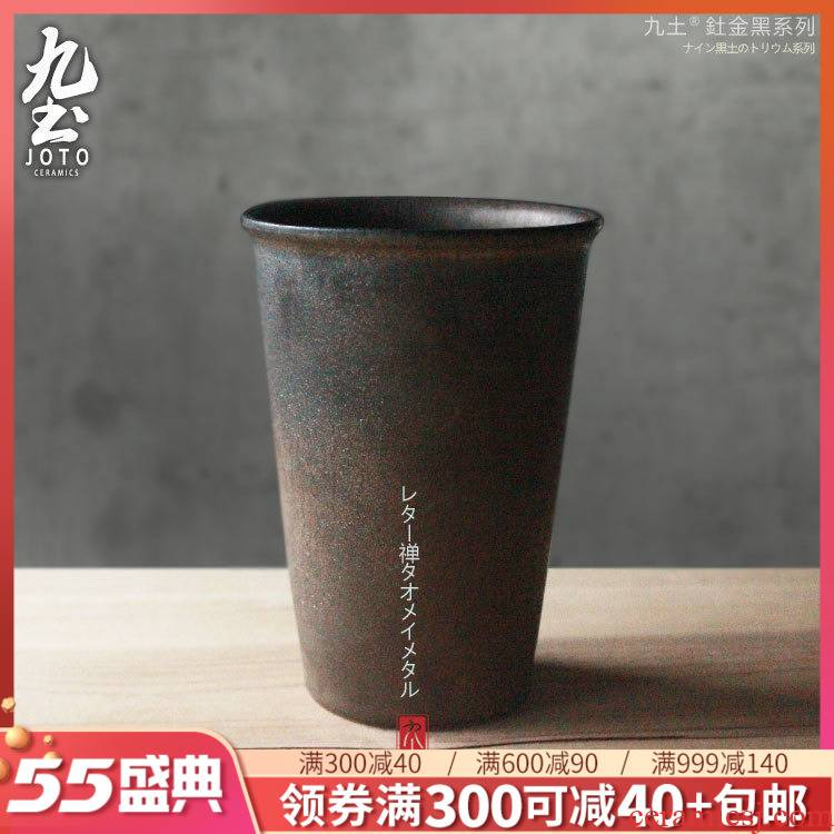 About Nine soil character ceramic mugs office Japanese green tea cup creative straight large color contracted high CPU