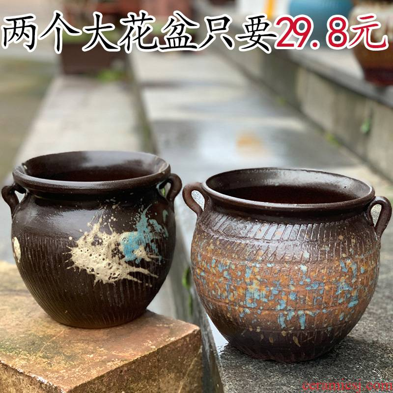 Specials fleshy flowerpot coarse pottery large - diameter plant other Chinese rose, ceramic POTS, fleshy mage old running the flowerpot