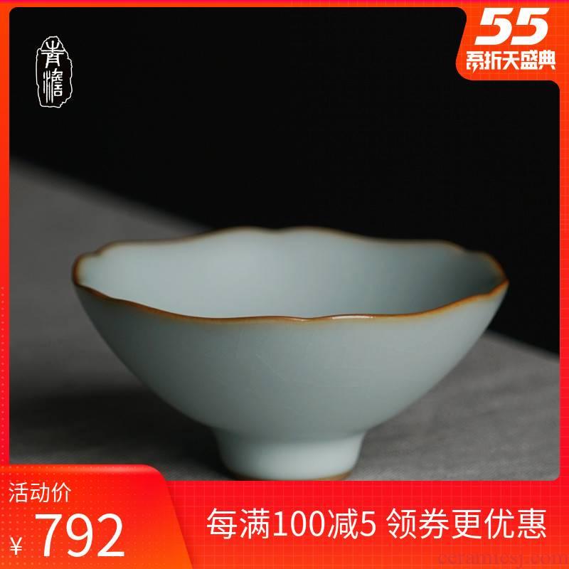 Hand your up hat cup jingdezhen undressed ore host a single kongfu tea light sample tea cup celadon ceramic cups