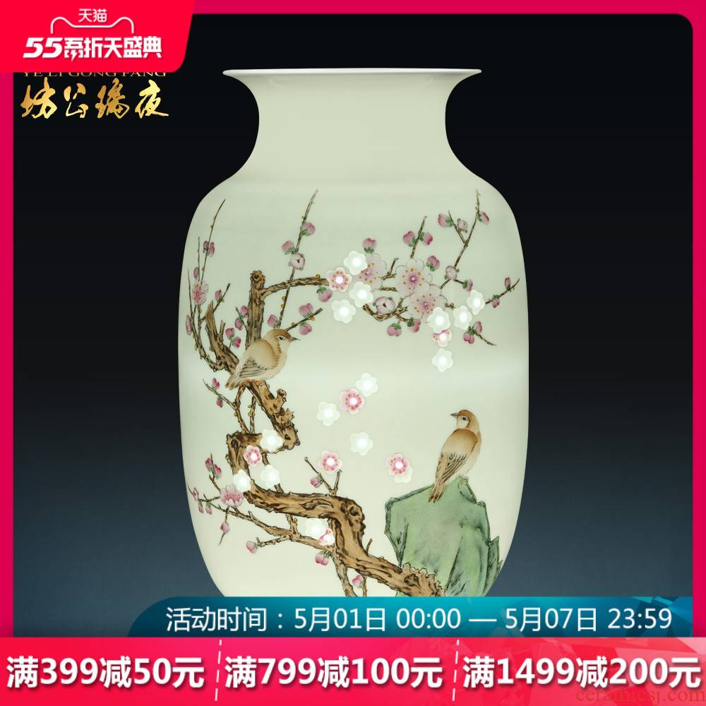Jingdezhen ceramics famous hand - made vases, flower arranging decorations frame bear sitting room of Chinese style household furnishing articles