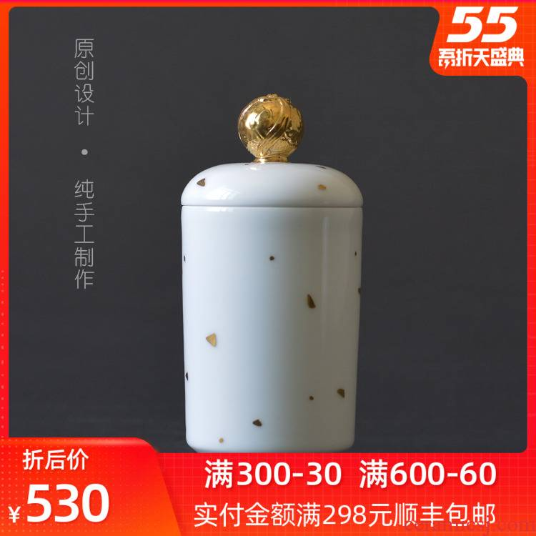 Bright product caddy fixings jingdezhen ceramic large seal pot kung fu tea set general ideas to restore ancient ways puer tea