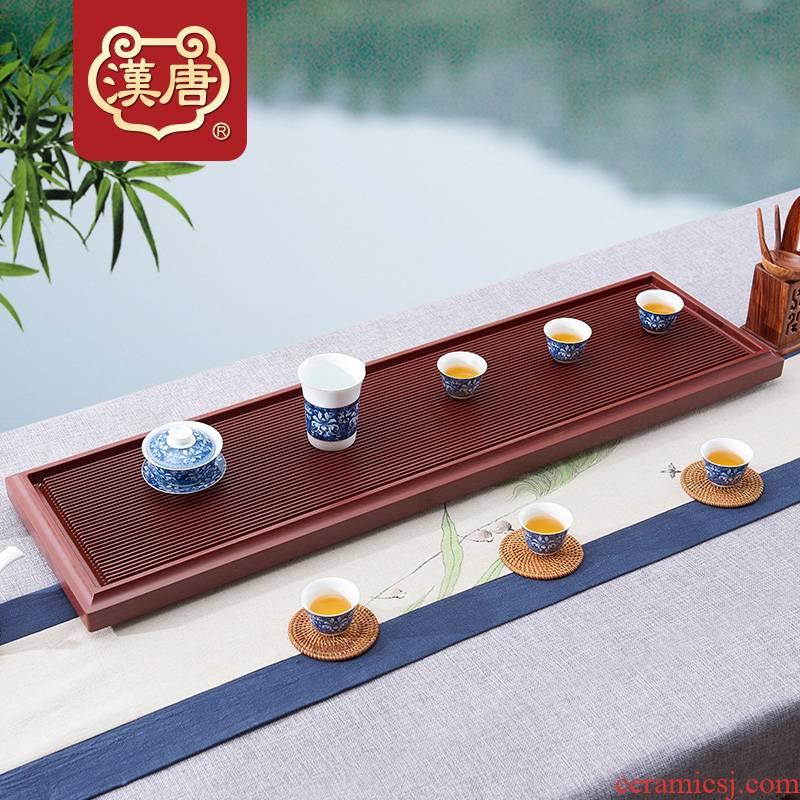 Han and tang dynasties bakelite tea tray tea set household simple single rectangular drainage type electric bakelite tea tray