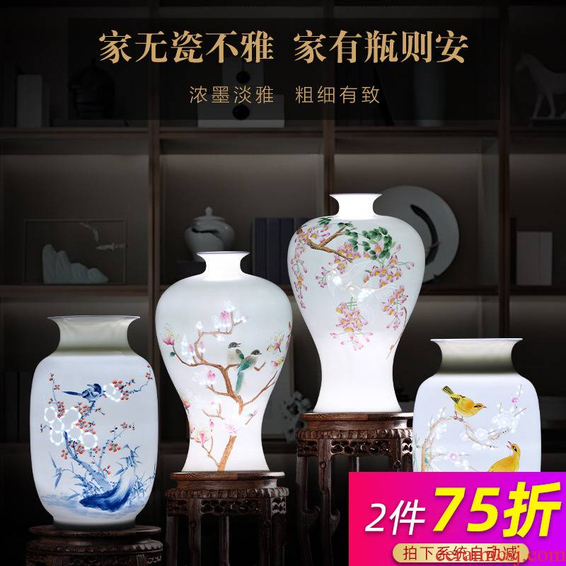 Jingdezhen ceramics master manual its exquisite hand - made vases, thin knife clay child home furnishing articles