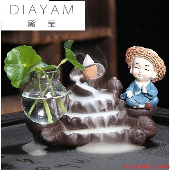 Diane jade - like stone zen ceramics is creative in the furnace violet arenaceous antique incense buner furnace Taoist fragrant indoor home back etc